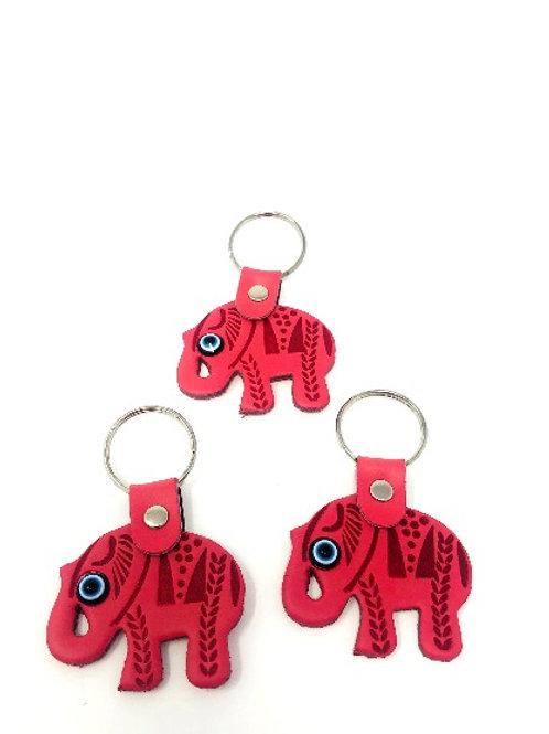 ALL SEEING EYE ELEPHANT KEYCHAIN (PINK)