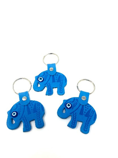 ALL SEEING EYE ELEPHANT KEYCHAIN (BLUE)