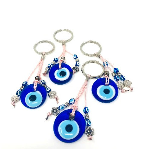 ALL SEEING EYE KEYCHAIN (PINK)