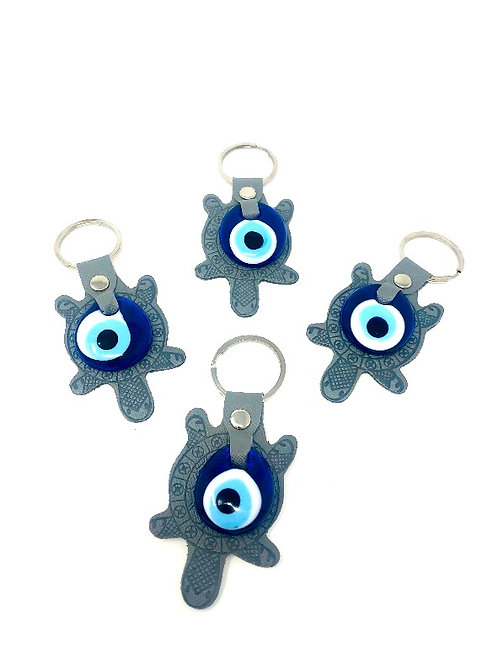 ALL SEEING EYE TURTLE KEYCHAIN (GREY)
