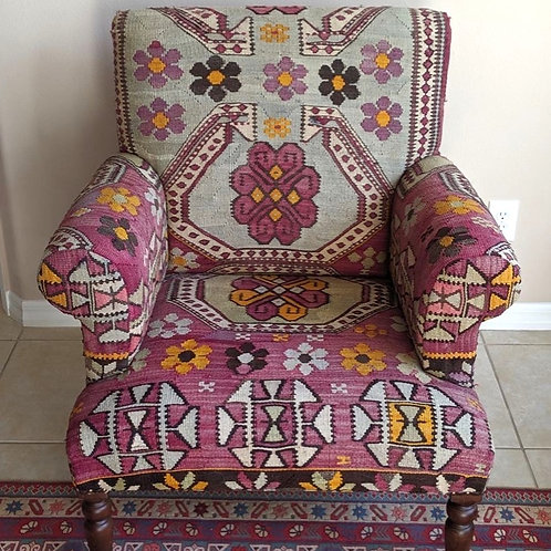 TURKISH KILIM ARMCHAIR, FURNITURE