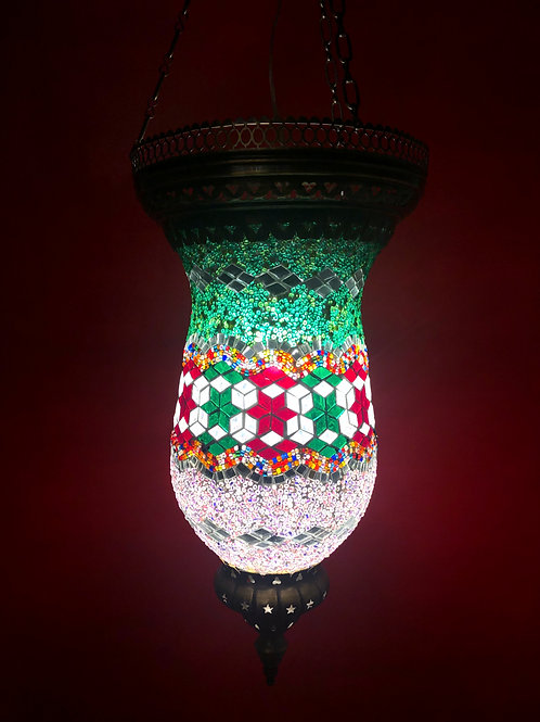 TURKISH MOSAIC CEILING PENDANT LANTERN
