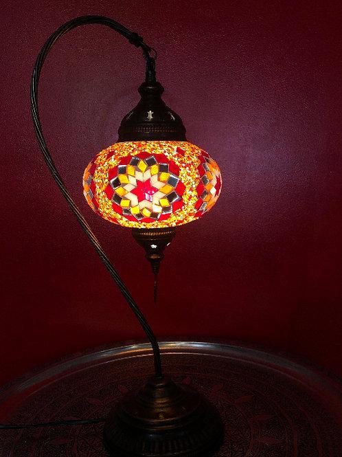 """LARGE TURKISH MOSAIC SWAN LAMP 23"""""""