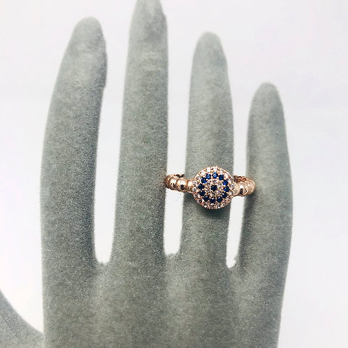 ROSE GOLD GOOD LUCK CHARM RING