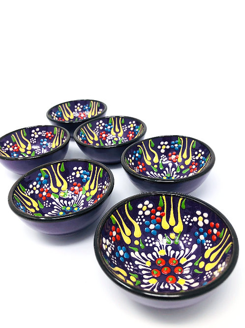 CERAMIC BOWL'S SET OF SIX (5cm)