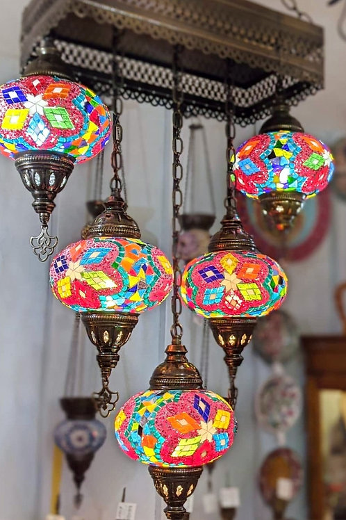 BEAUTIFUL MOSAIC CHANDELIER