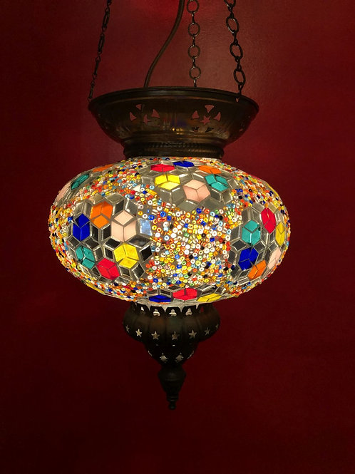 TURKISH MOSAIC CEILING PENDANT LIGHT
