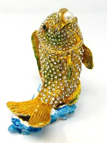 FISH OUT OF WATER WITH CRYSTALS