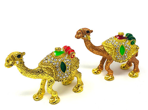 SET OF TWO CEREMONIAL CAMELS
