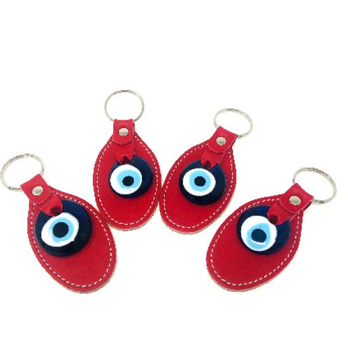 ALL SEEING EYE PATCH KEYCHAIN (RED)