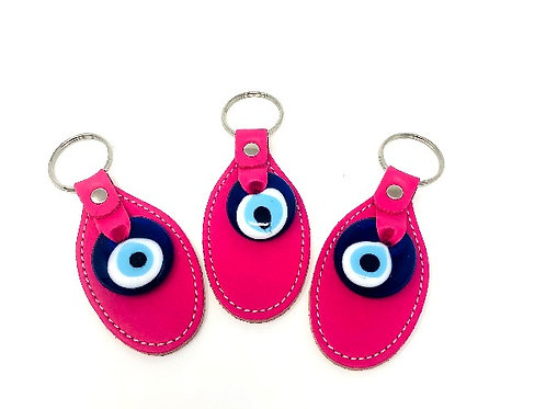 ALL SEEING EYE PATCH KEYCHAIN ( PINK)
