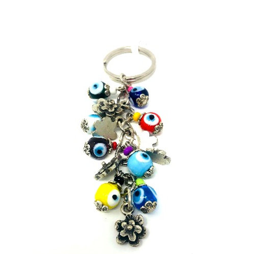 ALL SEEING EYE BEADED KEYCHAIN