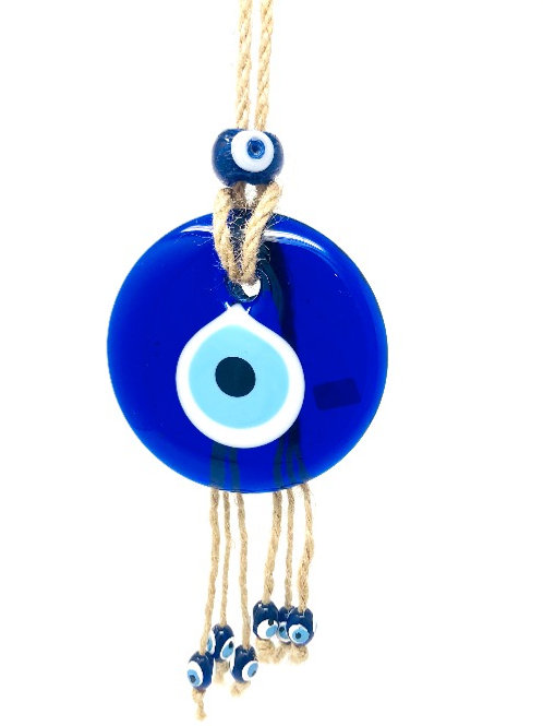 GLASS HANGING EVIL EYE (GOOD LUCK CHARM)