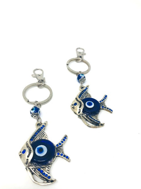 ALL SEEING EYE FISH KEYCHAIN