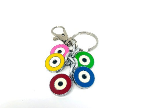 ALL SEEING EYE MULTI COLOR KEYCHAIN