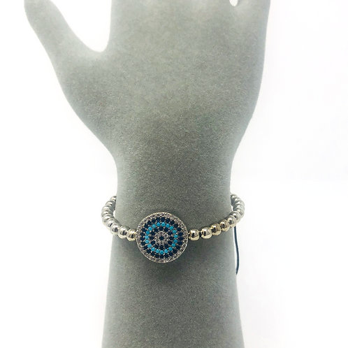 SILVER PLATED ALL SEEING EYE BRACELET