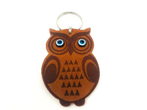 ALL SEEING EYE OWL KEYCHAIN (BROWN)
