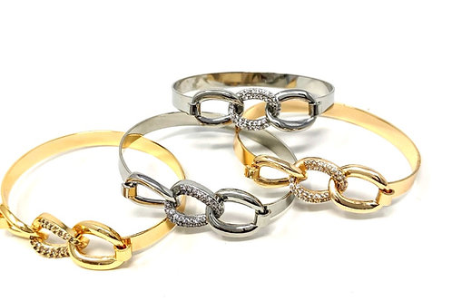 GOLD PLATED LATCHED BRACELET