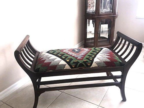 TURKISH KILIM BENCH, FURNITURE
