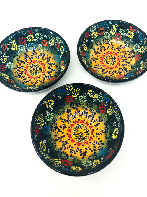 CERAMIC MINI BOWLS SET OF THREE (10cm)
