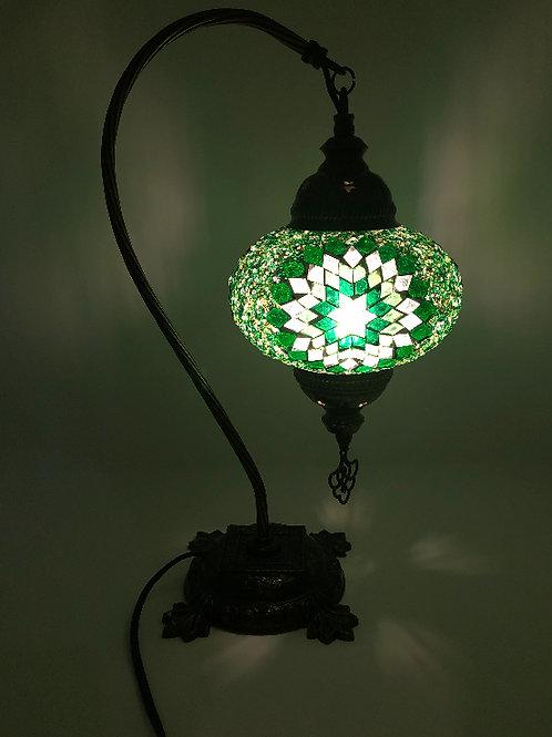 """LARGE TURKISH MOSAIC SWAN LAMP 17"""""""