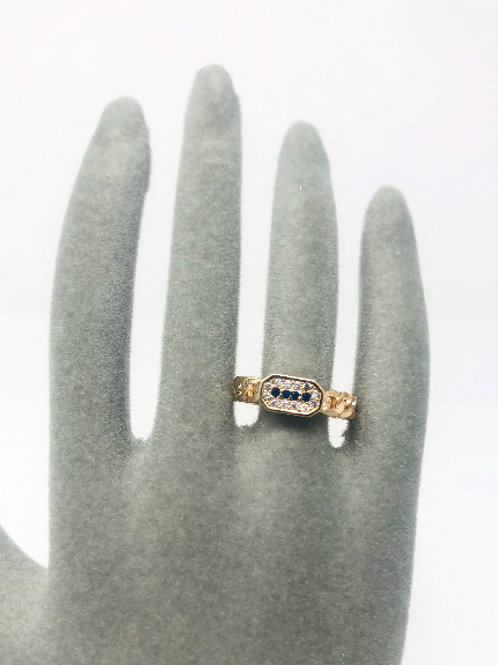 GOLD PLATED GOOD LUCK CHARM RING