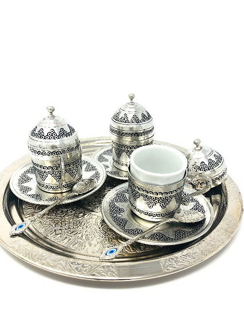 TURISH TEA SET INCLUDES SERVING TRAY