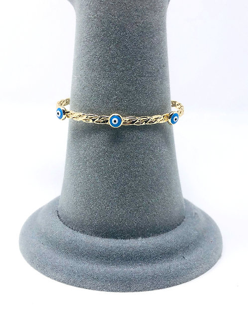 GOLD PLATED ALL SEEING EYE BRACELET
