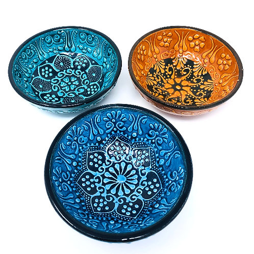 CERAMIC MINI BOWLS SET OF THREE(10cm)
