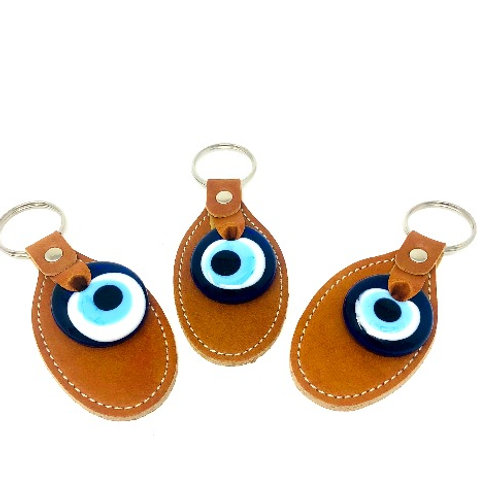 ALL SEEING EYE PATCH KEYCHAIN (BROWN)
