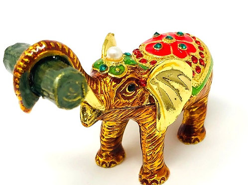 CEREMONIAL BRASS ELEPHANT