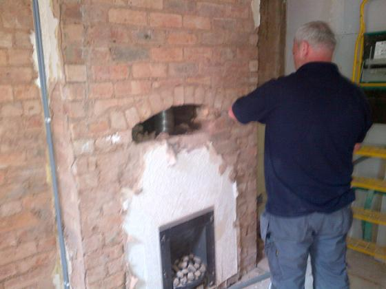 opening chmney for log burner