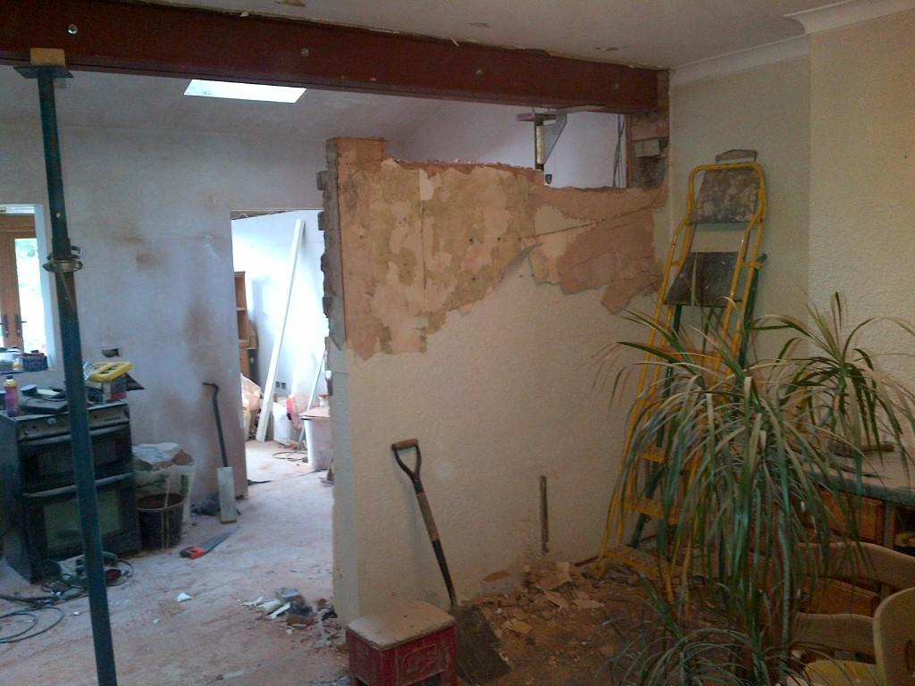 kitchen wall removed