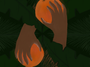 Palms Painted in Pride
