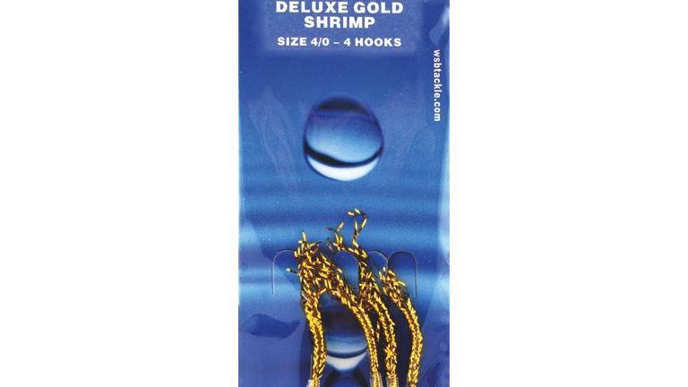 WSB - Duluxe Gold Shrimp, 4 hooks size 4/0