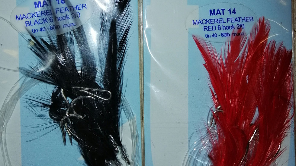 Mackerel feather 6 hook 2/0 - Trace builder