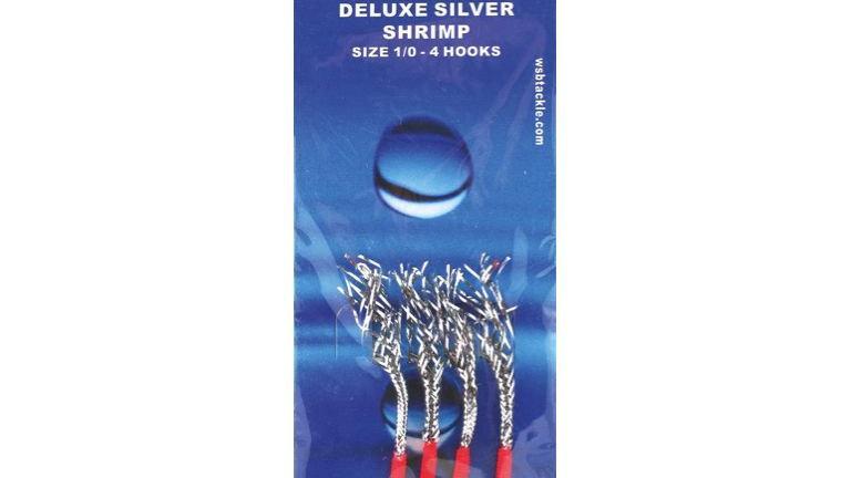 WSB - Silver Shrimp, 4 hooks size 1/0