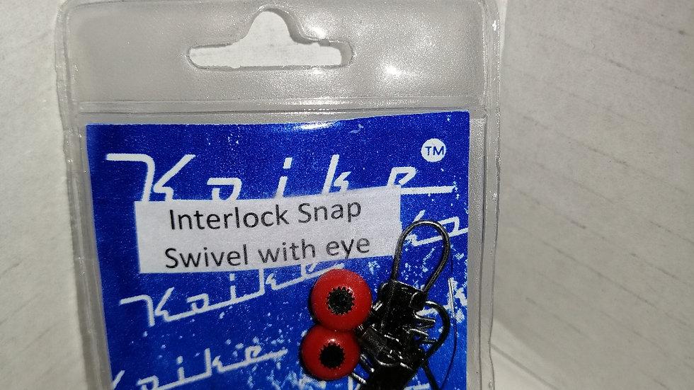 Interlock snap swivel with eye - koiki