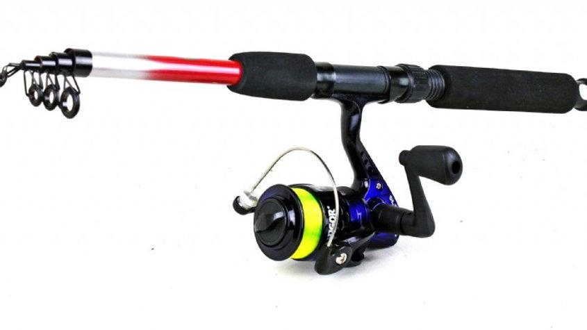 Lineaeffe Drago Telescopic Spin Rod & SL200 Reel