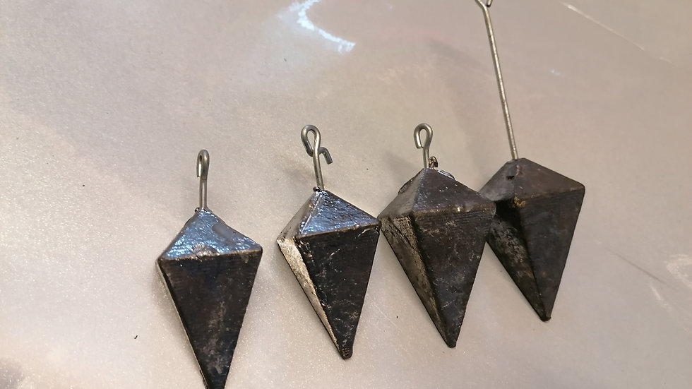 Double Pyramid (5oz and 6oz) Standard, Long Tail and Bait holder Available