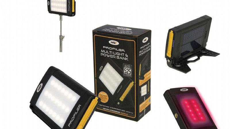 NGT Profiler 21 LED Light with 8000mAh Rechargable Powerbank Battery, Solar Pann