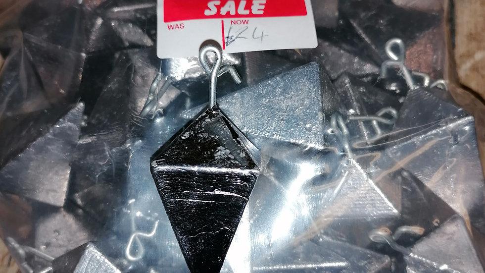 Bulk - Double pyramids x50 with bait holders 5 or 6oz