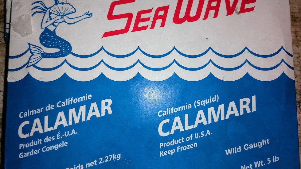 Calamari - california Squid - 5lb 2.27kg box