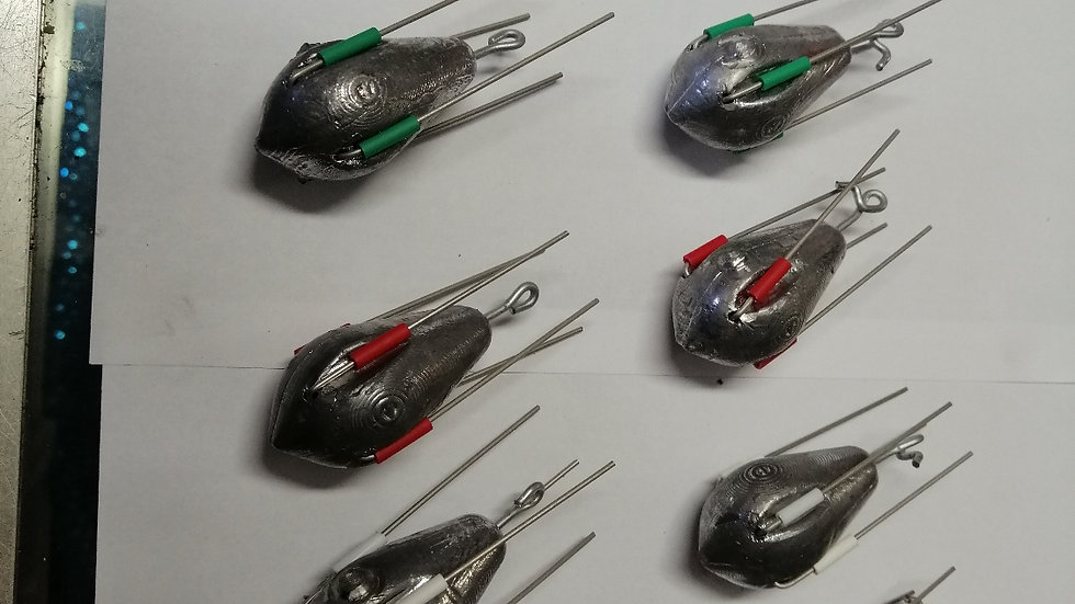 Dumpy grip leads (4oz to 8oz) (standard or bait holder eyes)