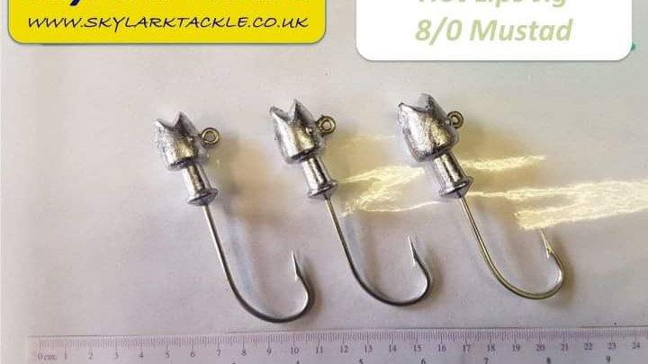 Lead heads - hot lips - 8/0 mustard hook