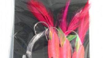 Pink Hokkai Rig - 3 hooks size 1/0 - Nurus Pro