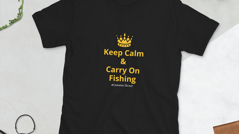 Keep Calm & Fish - Short-Sleeve Unisex T-Shirt