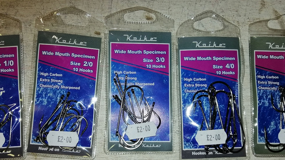 Koiki Wide Mouth Specimen Hooks (10 per pack)