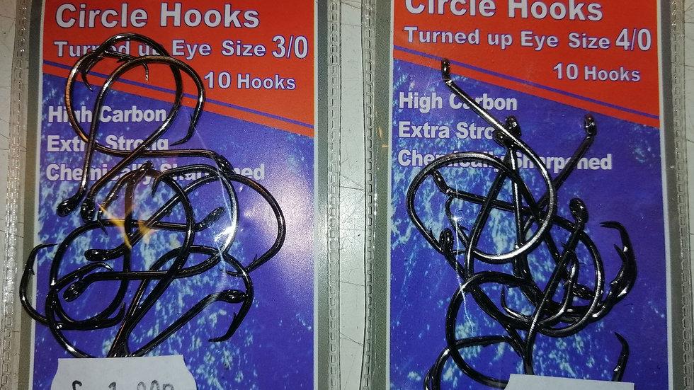 Koiki Circle turned up eye Hooks (10 hooks per pack)