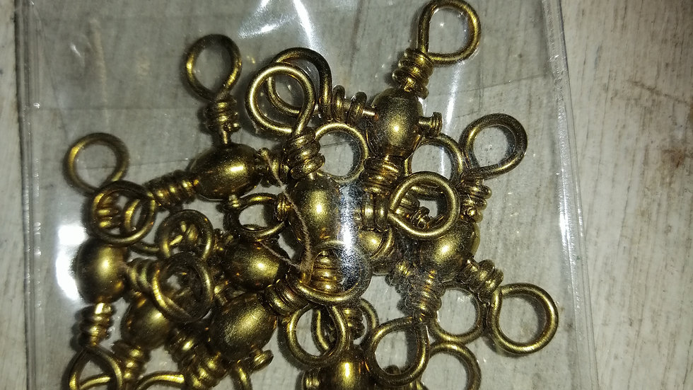 Brass 3 way swivels (x10 per pack)